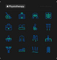 physiotherapy thin line icons set vector image vector image