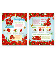 posters of spring time red flowers field vector image