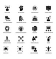 Project management glyph icons