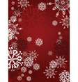 Red Background with Snowflakes2 vector image vector image