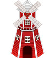 red windmill on white background vector image vector image