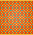 seamless geometric pattern on orange background vector image vector image