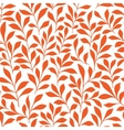 Seamless orange wild herbs pattern vector image