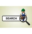Service search carpenter boy cartoon vector image vector image