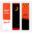 Set of happy Halloween banner background vector image vector image
