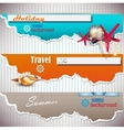 Set of Holiday banners with shells and place for vector image vector image