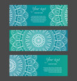 set of horizontal narrow banners with ethnic vector image vector image