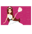 Sexy pinup style french maid vector image vector image