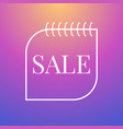 simple sale banner vector image vector image