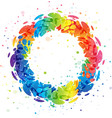 splash rainbow circle on white background vector image vector image