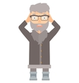 Stressful north man clutching his head vector image vector image