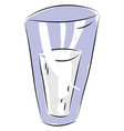 transparent glass of milk color on white vector image vector image