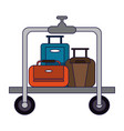 travel luggage equipment vector image vector image