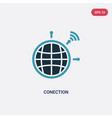 two color conection icon from technology concept vector image vector image