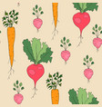 vegetable pattern vector image vector image