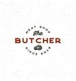 vintage butchery logo retro styled meat shop vector image vector image