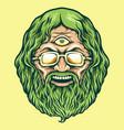 vintage head cannabis man kush