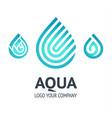 water drop symbol blue logo template icon vector image