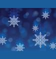 winter snowflake christmas abstract wallpaper vector image vector image