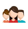 women character and man social media network vector image
