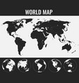 world map with globes infographic map vector image vector image