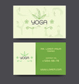 Yoga business card vector image vector image