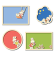 frames with rabbits vector image