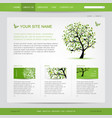 website design template with green tree vector image