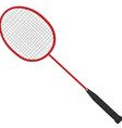 Red badminton racket vector image