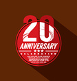 20 Years Anniversary Celebration Design vector image vector image