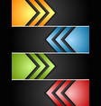 Abstract banners with arrows vector image vector image