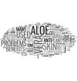 aloe vera juice text word cloud concept vector image vector image