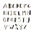 alphabet simple hand drawn aged on white vector image vector image