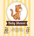 Baby shower card invitation date cute tiger