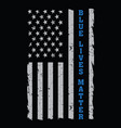 blue lives matter vector image