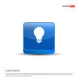 bulb icon - 3d blue button vector image