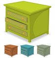 cabinet green set vector image