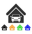 car garage icon vector image vector image