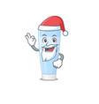 cartoon character eye cream santa having cute vector image vector image