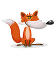 cartoon funny fox character vector image vector image