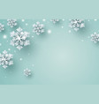 christmas background design snowflake and snow vector image vector image