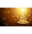 Christmas Magic Tree Gold vector image vector image