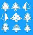 christmas tree paper laser cutting vector image vector image