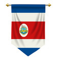 costa rica pennant vector image vector image