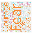 Courage text background wordcloud concept vector image vector image