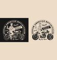 custom motorcycle repair service logo vector image vector image