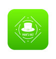 Cylinder hat icon green