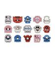 emblems and badges set baseball team vector image vector image