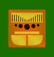flat shading style icon music center vector image