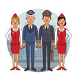 flight crew cartoon vector image